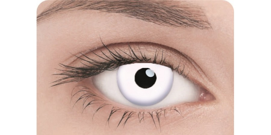 Белые контактные линзы