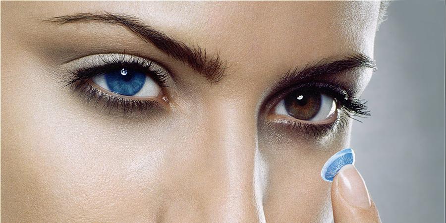 Синие контактные линзы